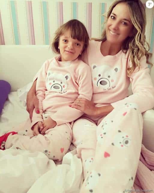 Pijama tal mãe tal filha estampa ursinho