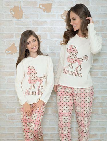 Pijama de inverno tal mãe tal filha