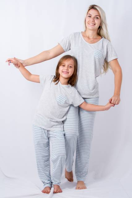 Pijama tal mãe tal filha branco meia estação