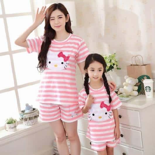 Pijama tal mãe tal filha Hello Kitty