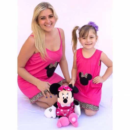 Pijama de verão minnie rosa