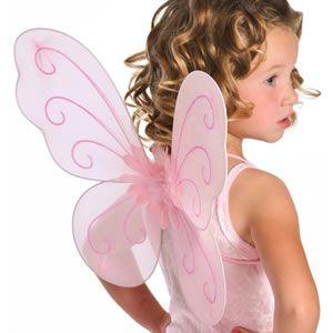 fantasia de fada infantil com asinha de borboleta