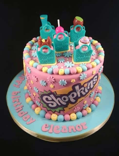 ideias para bolos decorados Festa Shopkins