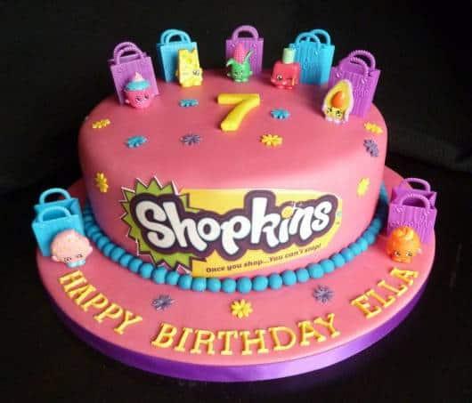 dicas de bolo para Festa Shopkins
