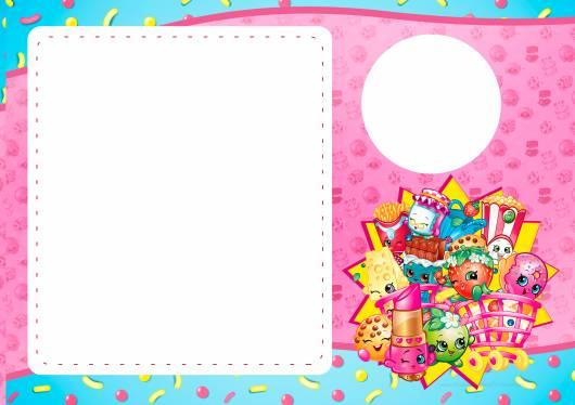 convite Festa Shopkins rosa