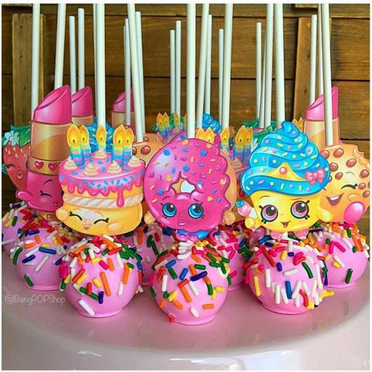 maça do amor para Festa Shopkins
