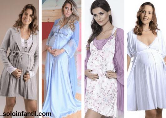 camisolas para grávidas com robes