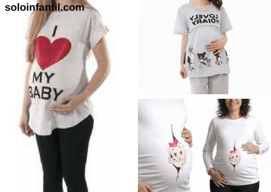 conjuntos de pijama para gestante de calça e camiseta com desenhos e frases