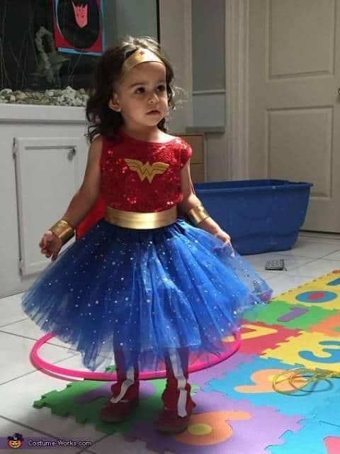 Fantasia Mulher Maravilha Infantil customizada