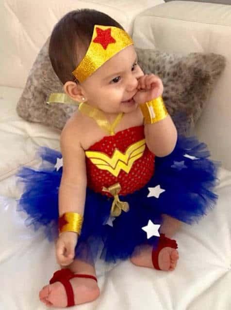 Fantasia Mulher Maravilha Infantil de menina linda