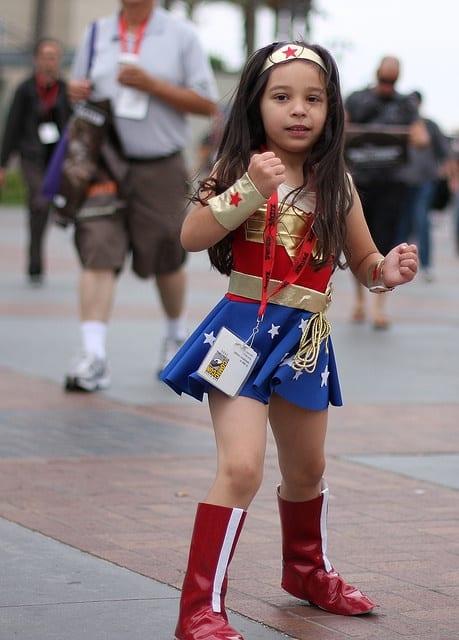 Fantasia Mulher Maravilha Infantil com bota cano alto
