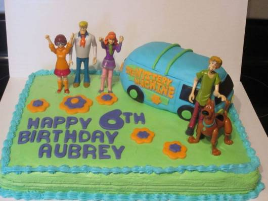 bolo decorado para Festa Scooby-Doo