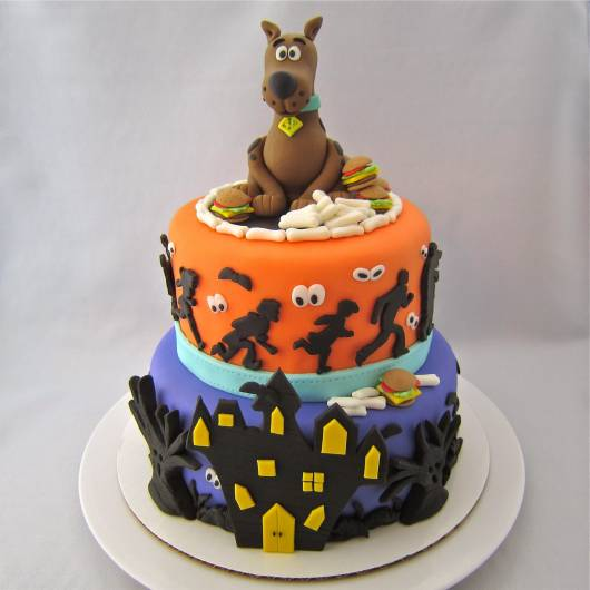 decoração de bolo para Festa Scooby-Doo