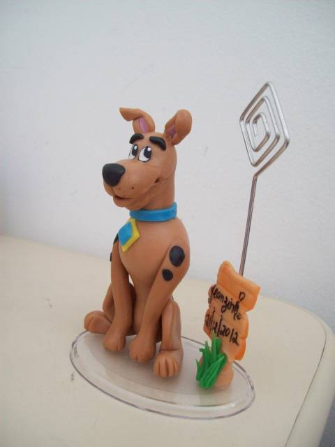 porta recado de Festa Scooby-Doo