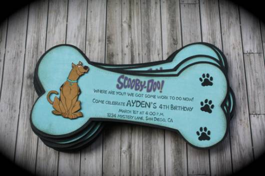 convite personalizado para Festa Scooby-Doo