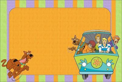 layout de convite para Festa Scooby-Doo
