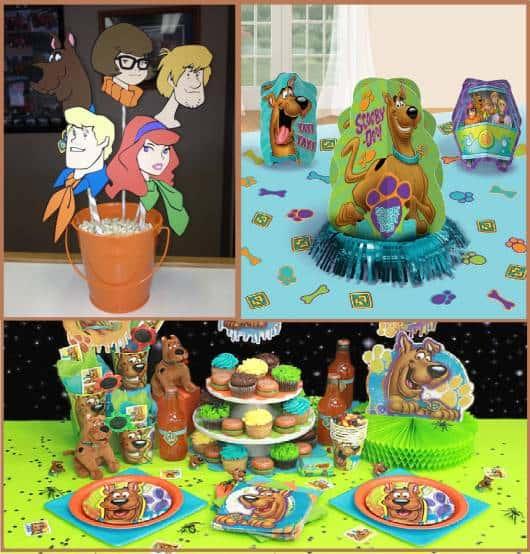 centro de mesa de Festa Scooby-Doo