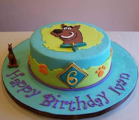 modelos de bolo para Festa Scooby-Doo