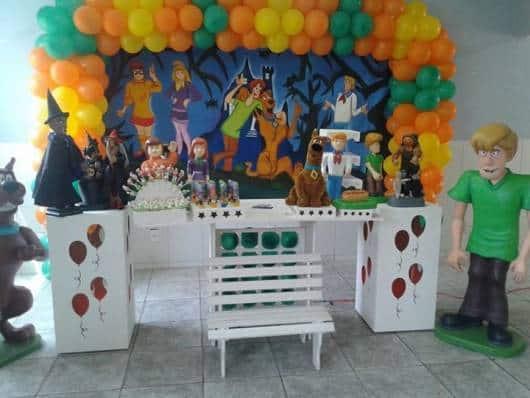 decoração de Festa Scooby-Doo provençal