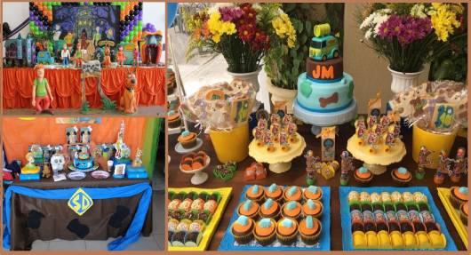 ideias para mesa de Festa Scooby-Doo