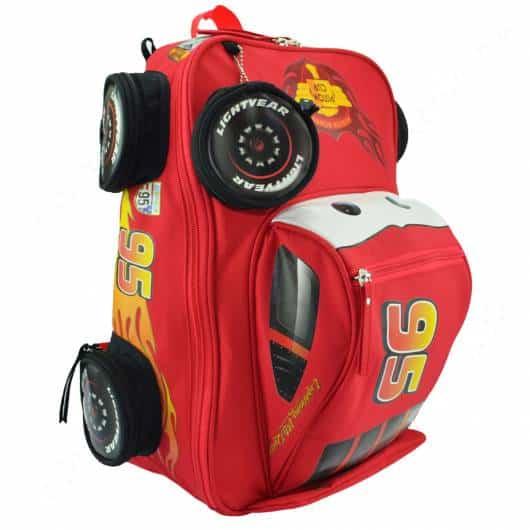 mochila carro vermelho