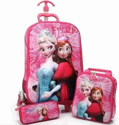 mochila rosa Frozen