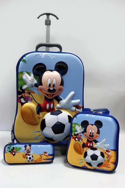 mochila e lancheira Mickey