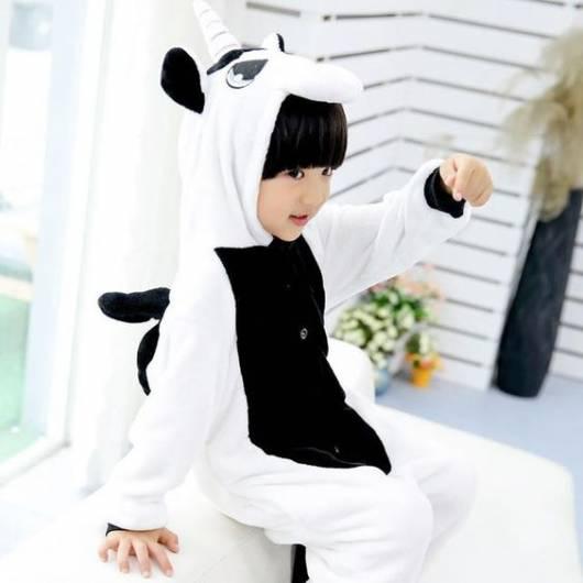 pijama preto e branco