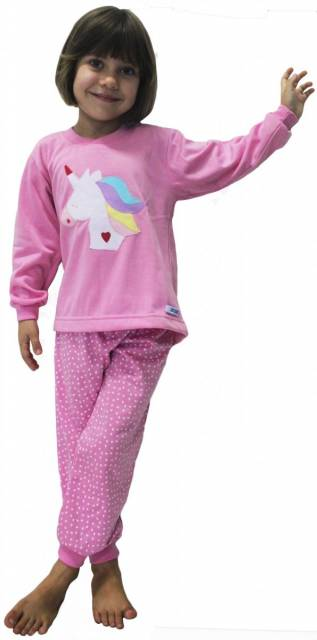 pijama de frio rosa