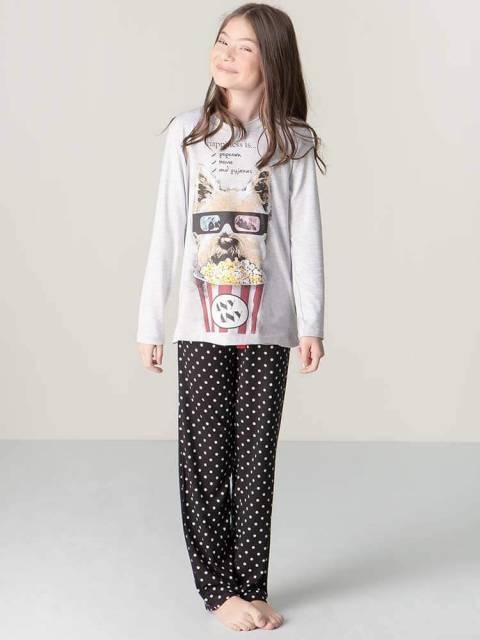 pijama algodão menina