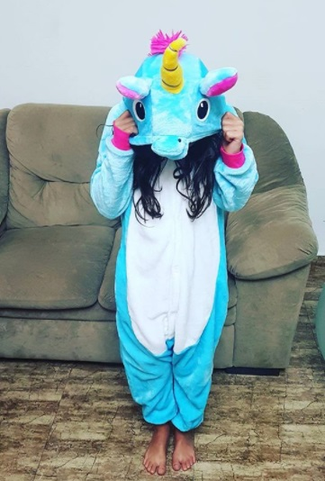 pijama macacão unicórnio