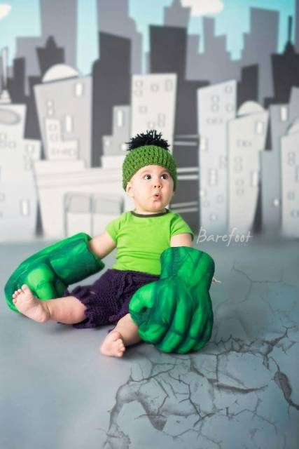 fantasia do Hulk Infantil baby