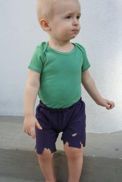 fantasia do Hulk Infantil com camisa verde