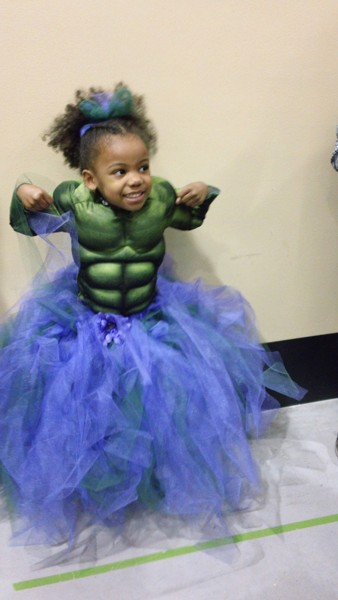 fantasia do Hulk Infantil com saia para menina