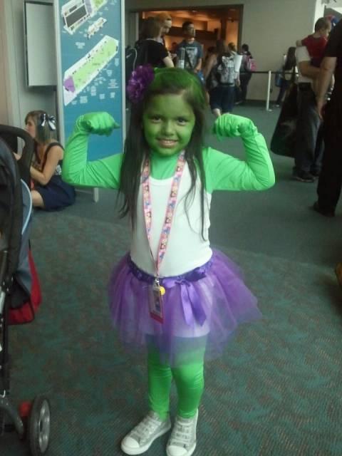 fantasia do Hulk Infantil feminina