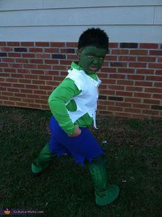 fantasia do Hulk Infantil com short azul
