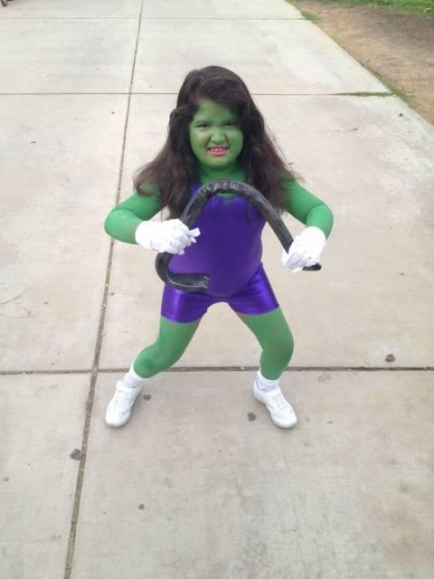 fantasia do Hulk Infantil de mulher hulk