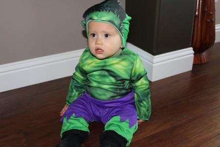 fantasia do Hulk Infantil para bebê pronta