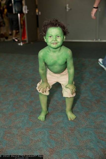 ideias para fantasia do Hulk Infantil