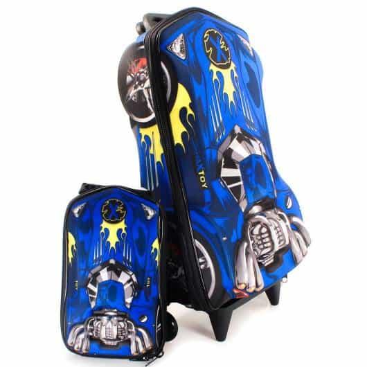 mochila infantil com lancheira 3D para menino