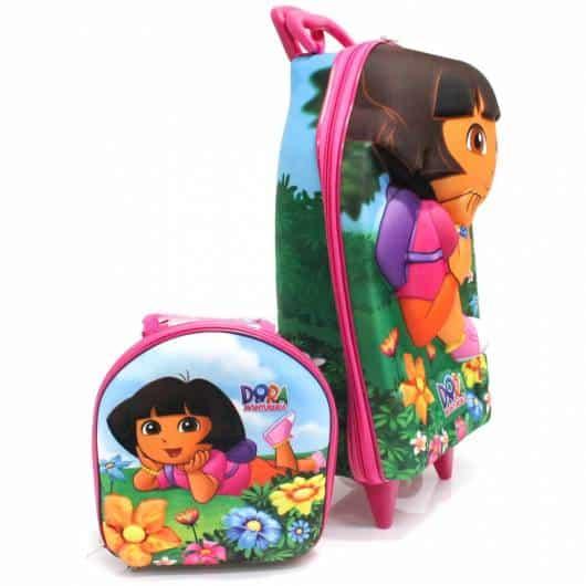 mochila infantil com lancheira da dora