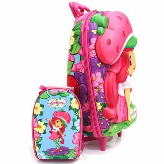 mochila infantil com lancheira da Moranguinho