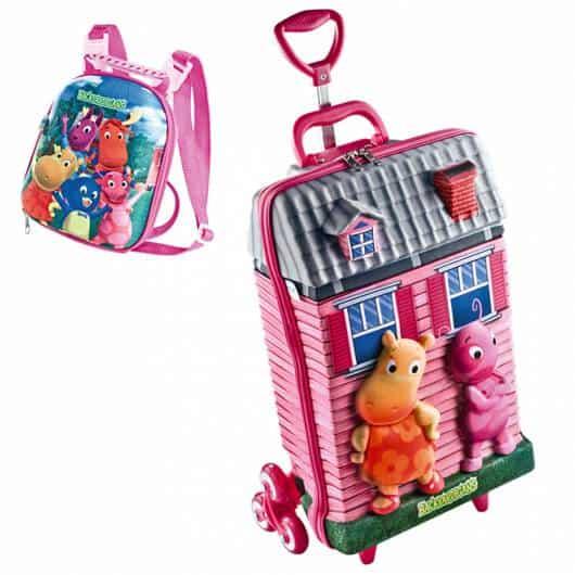 mochila infantil com lancheira modelo 3D rosa