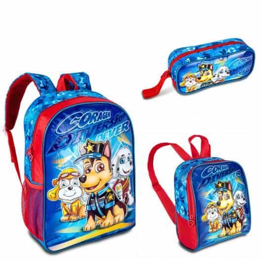 mochila infantil com lancheira para meninos azul