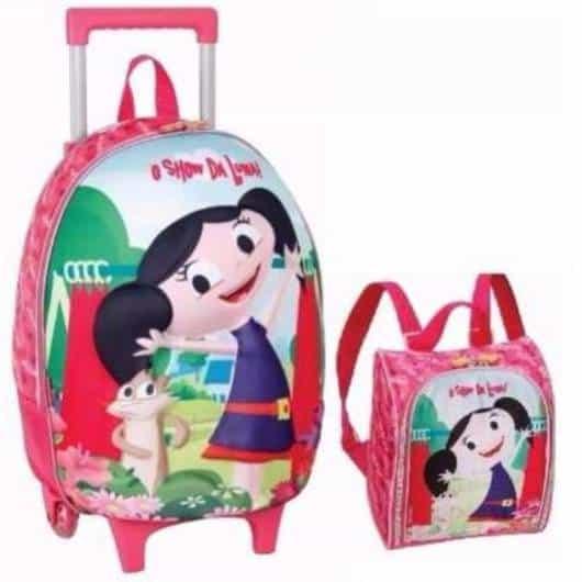mochila infantil com lancheira da Luna