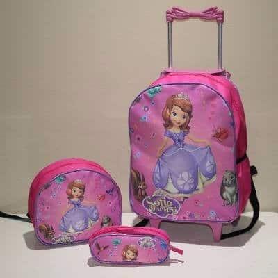 mochila infantil com lancheira da princesa Sofia