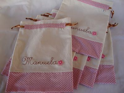saco maternidade de tecido rosa