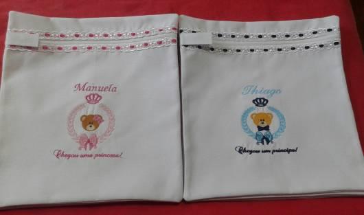 saco maternidade com nome do bebê