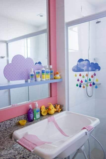 banheiro simples bebê