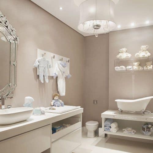 banheiro infantil sofisticado